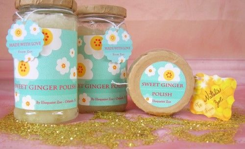 16 homemade scrubs ~ sugar, salt, facial and body scrubs: Body Scrubs, Ginger Skin, Ginger Polish, Skin Polish, Sweets, Gift Ideas, Homemade Gift