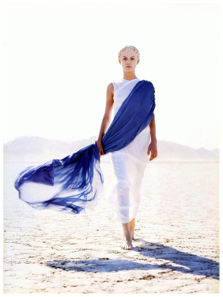 Angela Lindvall for Vogue Paris April 1999 PhotoHerb Ritts