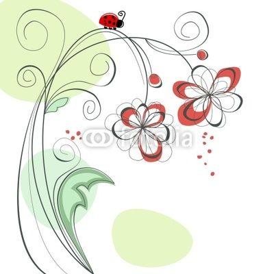 Carino sfondo floreale