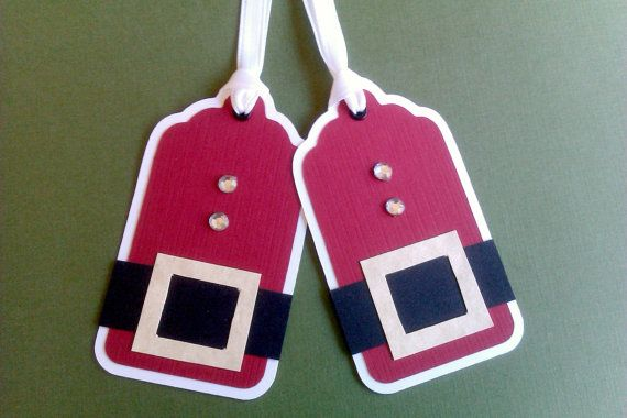 Santa tags =)Crafty Stuff, Santa Tags, Santa Christmas, Cute Ideas, Diy Gift, Handmade Gift, Christmas Tags, Christmas Gift Tags, Christmas Gifts