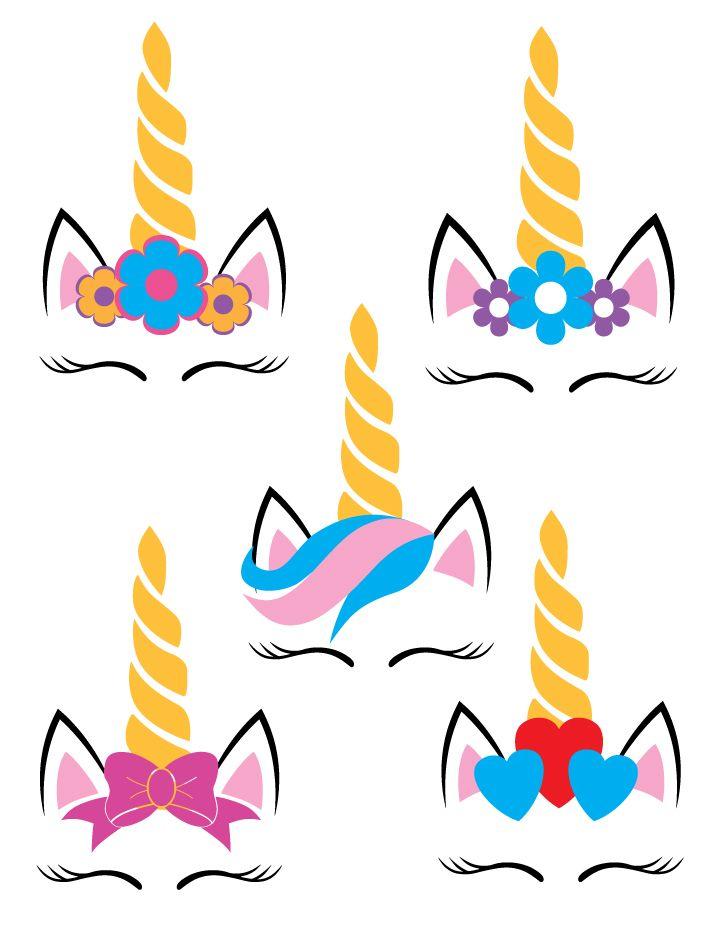 Five Unicorns SVG   ladies   Unicorn, Unicorn birthday