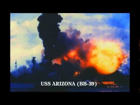 This COLOR footage of the Japanese attack on Pearl Harbor was shot by CWO4 Clyde Daughtry. The original footage has since been lost, and the poor quality of this footage is due to the fact that it is a copy. Among the many valuable portions of this footage are shots of USS Nevada (BB-36) underway and firing back at Japanese aircraft, USS Oglala (CM-4) rolling over and sinking, and USS St. Louis underway (CL-4).