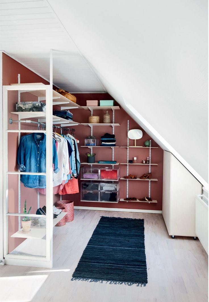 Garderobe med genial opbevaring
