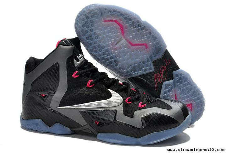"Nike LeBron 11 ""Miami Nights"" Black/Metallic Silver-Dark Grey-Pink Flash"