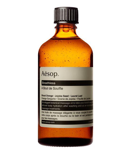 """Huile """"À Bout de Souffle"""" d'Aesop http://www.vogue.fr/beaute/shopping/diaporama/massage-a-la-maison-deconnexion-at-home-se-masser-a-domicile/14583/image/807178#!massant-huile-a-bout-de-souffle-aesop"""