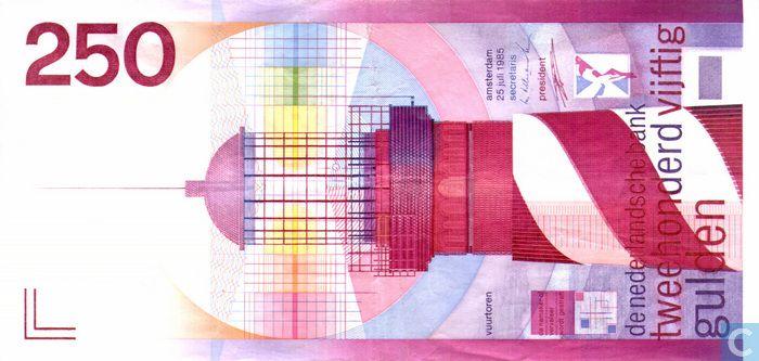 Bankbiljet - Periodieke kunst Nederland - 250 gulden Nederland 1985