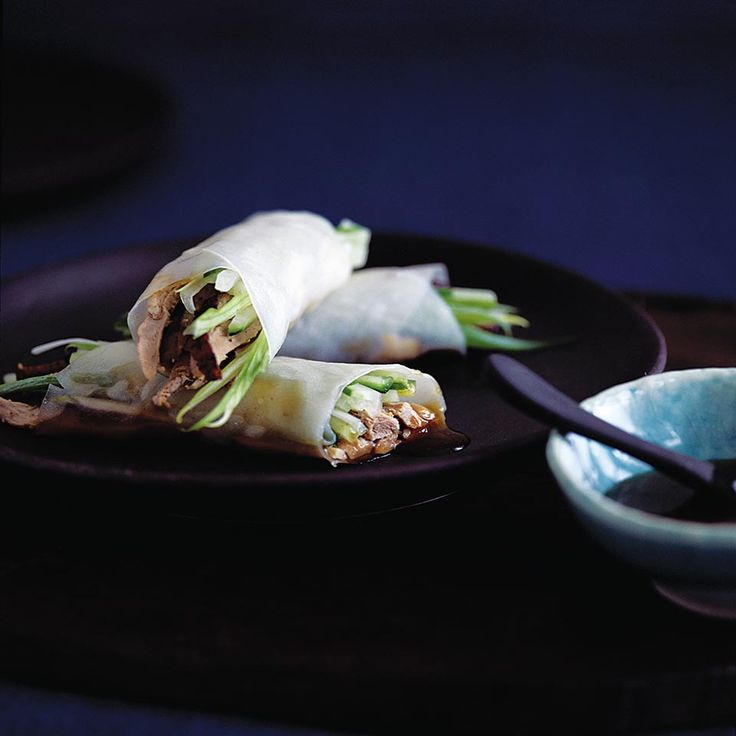 Ching He-Huang's authentic Peking duck rice paper rolls are a Chinese recipe to savour. RP by Splashtablet iPad Case for Suction Mount in Kitchen to Flat surfaces.  On Amazon. See Nice Reviews. Winter Sale Now.  Follow for Fun Stuff.