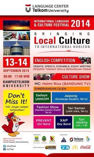 International Language & Culture Festival.   Telkom University, Bandung 2014