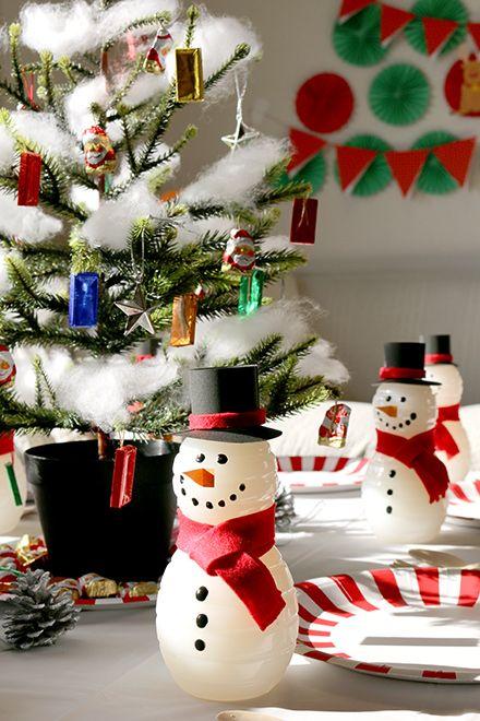 クリスマスパーティー演出 スノーマンボトル Snowman Bottle