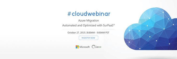 """Register for Cloud #Web #Conference : """"Azure Migration - Automated & Optimized with SurPaaS"""".   #Banner #Design"""