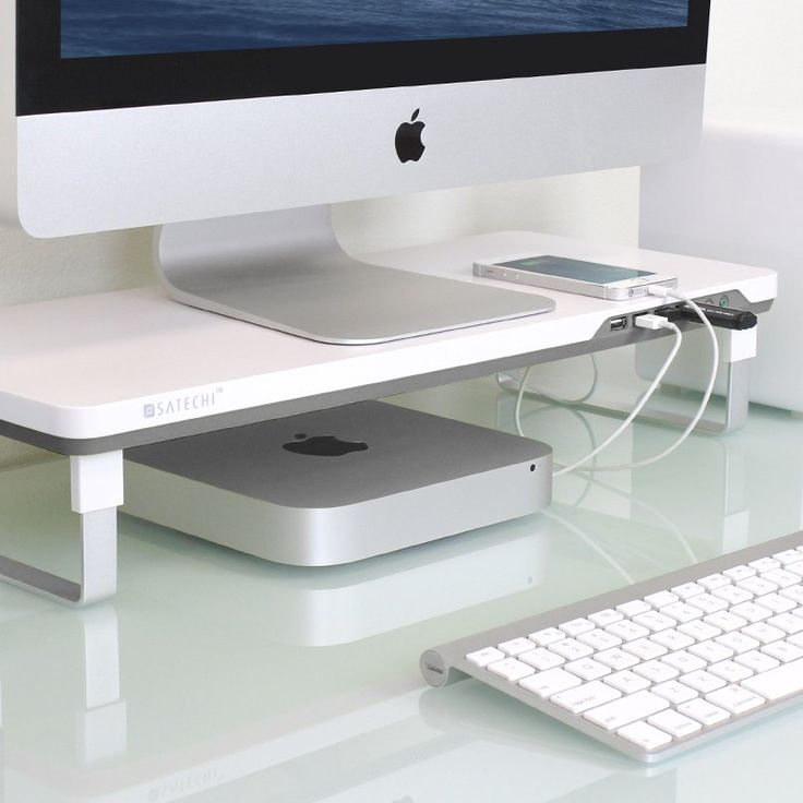 The Satechi F3 Smart Monitor Stand is the perfect companion for your monitor, laptop, or all-in-one computer. The F3 Smart Monitor Stand simplifies and organizes your desk, while maintaining a clean, functional style. Adjustable Height for Personalized Comfort. With a slim, modern design the Smart Monitor Stand raises your monitor to one of two preset heights for maximum comfort to reduce eye and neck strain. Four USB 3.0 Ports and Headphone/Microphone Ports. This monitor stand features 4…
