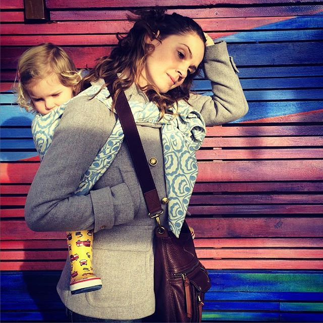 The worst timed hair flip of life.  #zeezen #wovenwrap #wovens #pearlcove #madeincanada #madeinbc #babywearing #toddlerwearing #wearthem #carrythem #keepthemclose #carryinstyle