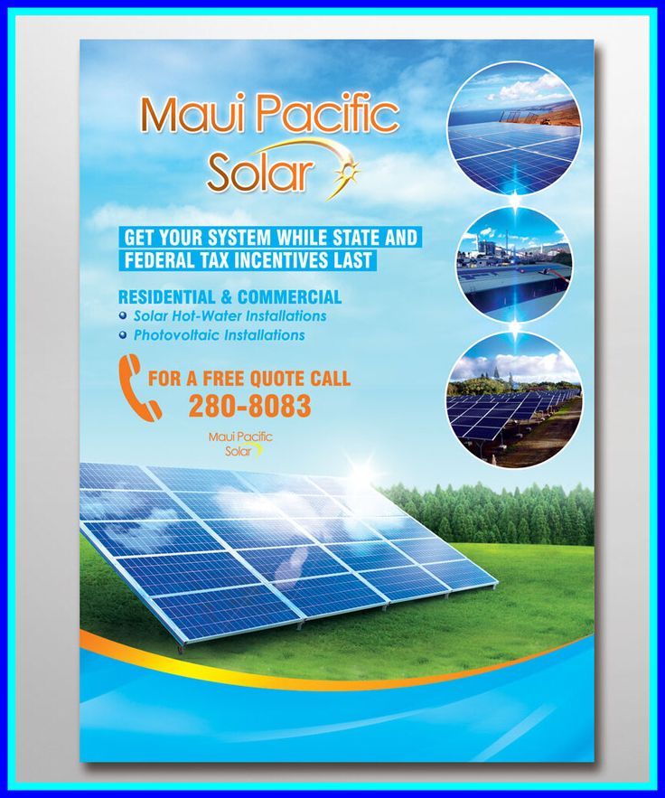 130 reference of Solar Panels For Home flyer design in