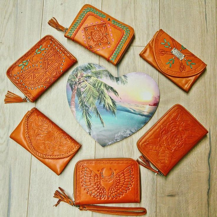 Circle of love 💜 so many treasures to melt your heart ~ which one's your favorite? online now    #mahiya #mahiyaleather #leatheraccessories #wallet #purse #handmade #handtooled #love #ootd #boho