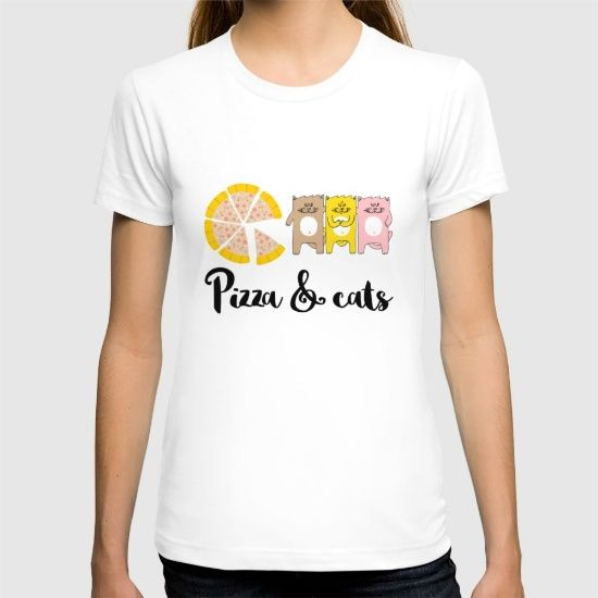 Pizza & Cats T-shirt