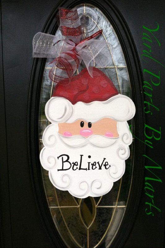 301 best front door decor images on Pinterest Christmas crafts - healthcare door hanger