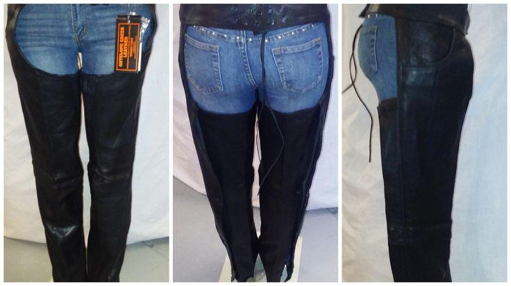 1085 Black Unisex Leather Chap by AntelopeCreekLeather on Etsy