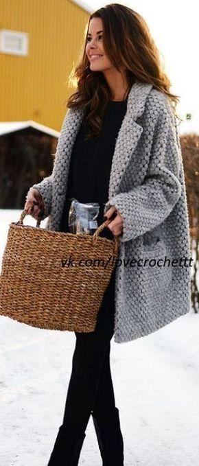 пальто крючком 2018 вязание Fashion Winter Outfits и Fall Outfits