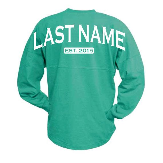 This is a Womens Spirit Jersey/ Pom Pom Pullover. Whatever we want to call it.... its cute!! Customize it with your last name, first name,