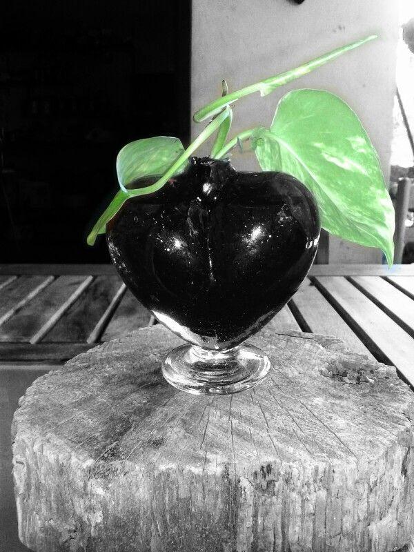 Corazón en Blanco y Negro