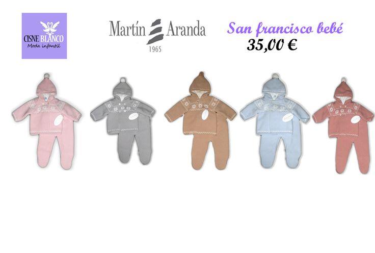 San Francisco bebé Martín Aranda. Confortable y calentito, doble punto, polaina con pie. Disponible en 5 colores.