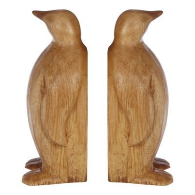 Debenhams Set of two wooden penguin book ends- at Debenhams.com