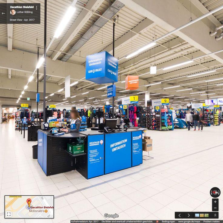 Decathlon Bielefeld // Google Street View Innenansicht