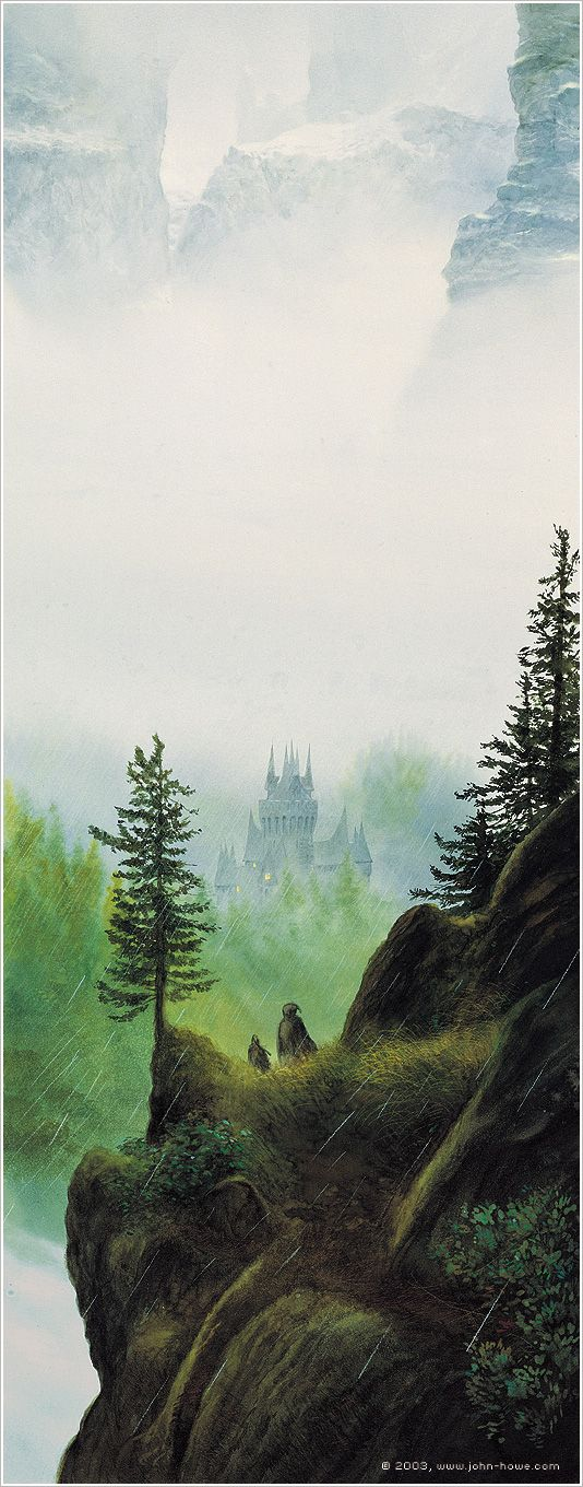 Descent into Rivendell by John Howe
