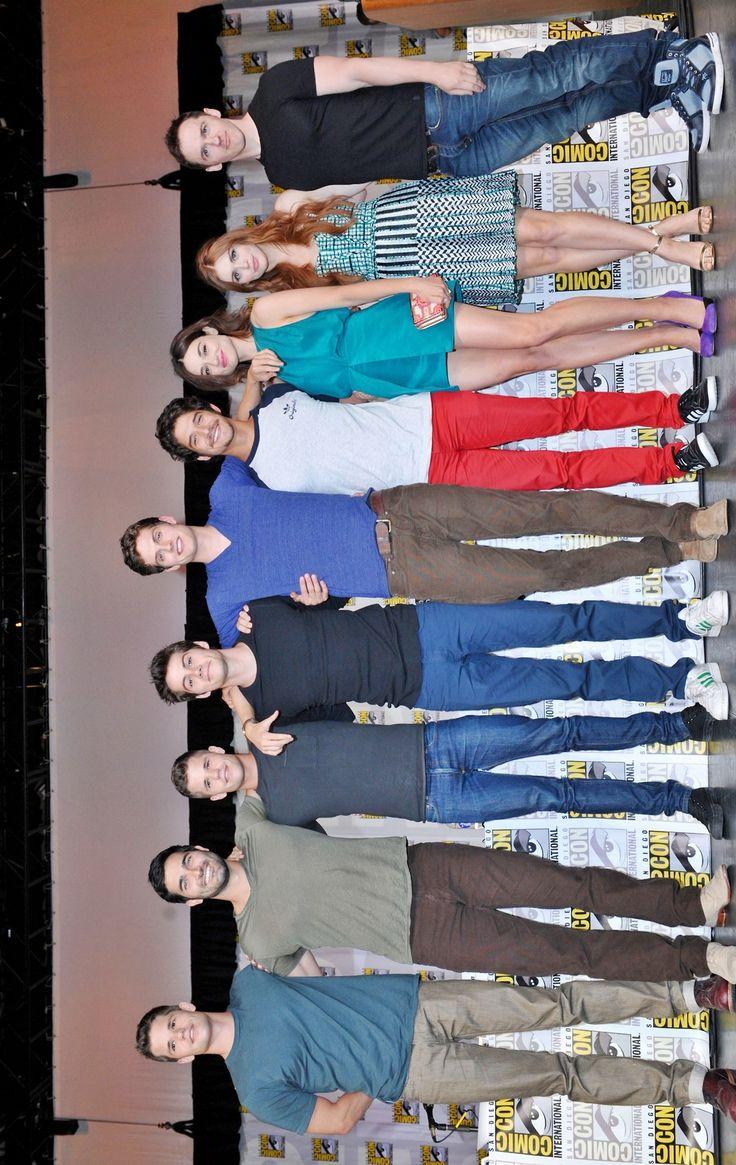 Teen Wolf cast! Haha I love how Daniel looks like he towers over everyone.
