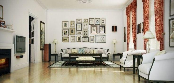 salon harmonieux de style classique selon les principes feng shui