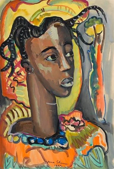 Portrait of a West African girl Artist: Irma Stern Completion Date: 1955 Style: Post-Impressionism