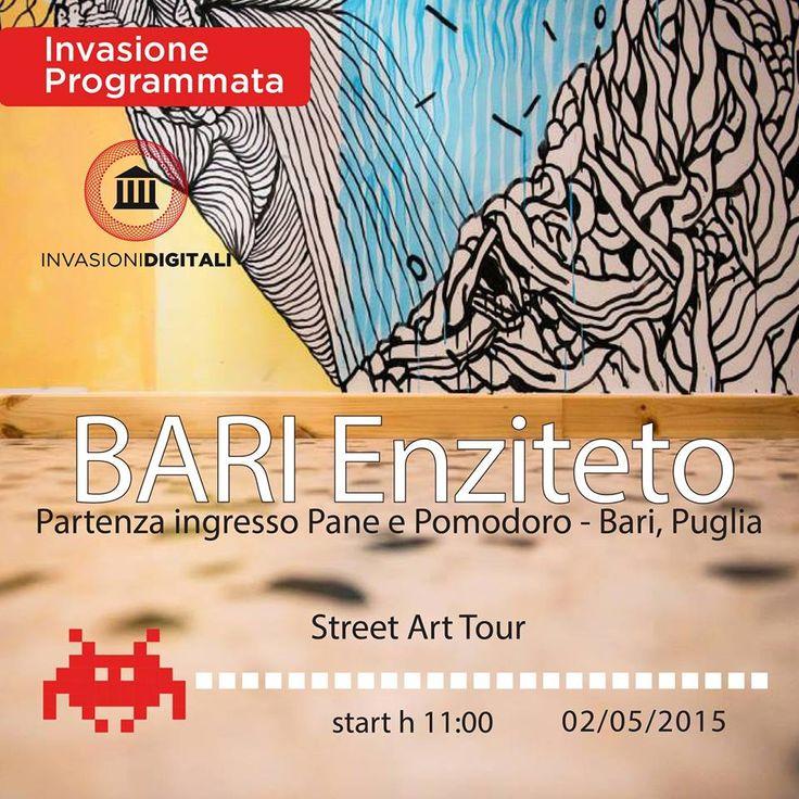 Non potevano mancare gli Igers Bari all'appuntamento con le #@invasionid  Sabato 2 maggio si andrà alla scoperta della street art a Bari.  #invasionidigitali #WeAreinPuglia