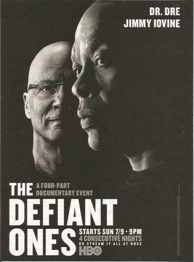 2017 PRINT AD for HBO tv The Defiant Ones Dr Dre Jimmy Iovine  ADVERTISING PAGE