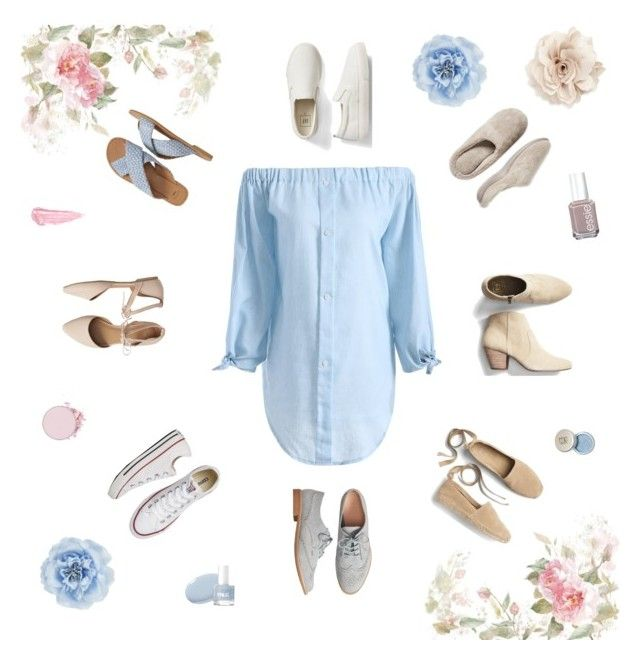 """""""Spring stile options #spring #lightblue #dress #shoes"""" by koczuba-anna on Polyvore featuring Gap, Dearfoams, Converse, Monsoon, Cara, Essie and By Terry"""