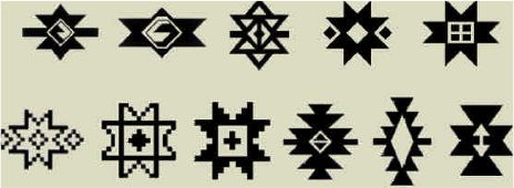 Star motifs used in Turkish Rugs