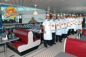 Johnny Rockets onboard a Royal Caribbean Cruise --mouthwateringwantonionringsplease