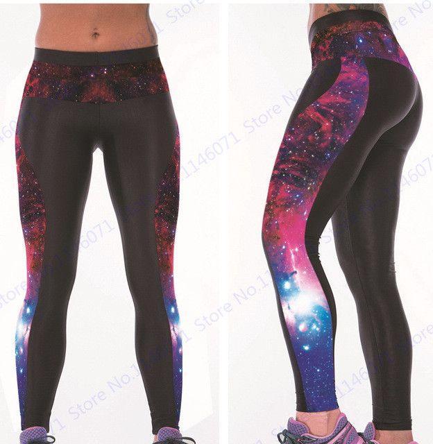 Black Pinstripe Jogging Tights Sports Gym Leggings Dot Print Yoga Pants High Elasticity Women Training Trouser Gradient Color
