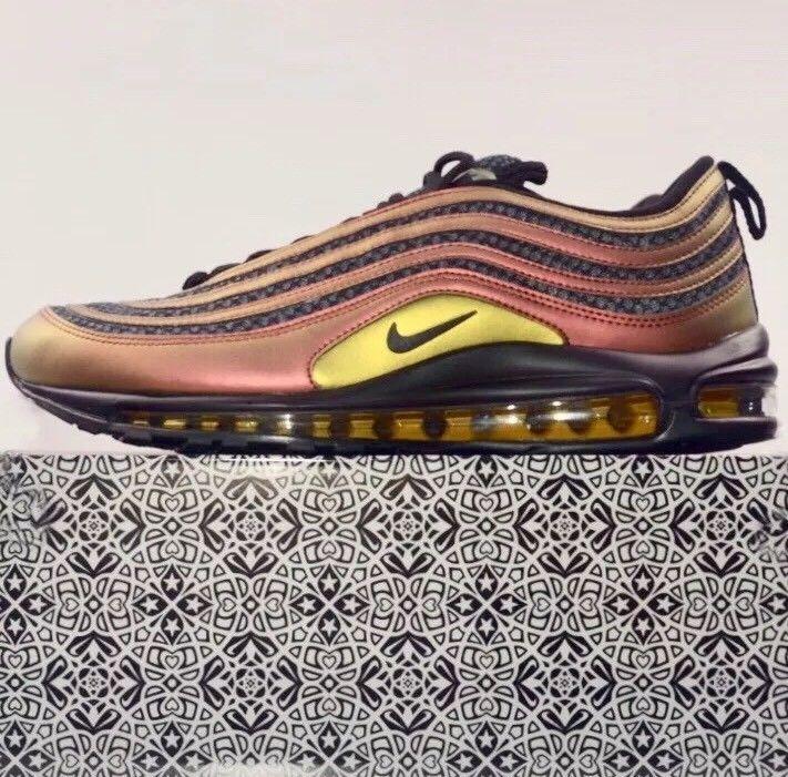 Detalles de Nike Air Max '97 Skepta Gold Black Size 44 New