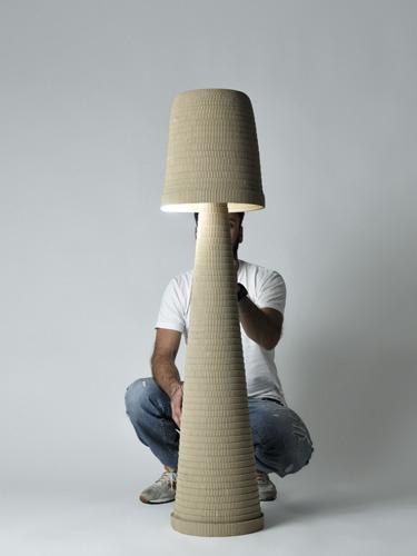 Cardboard floorlamp