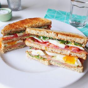 Healthy Living in heels recept: Zalm Club Sandwich