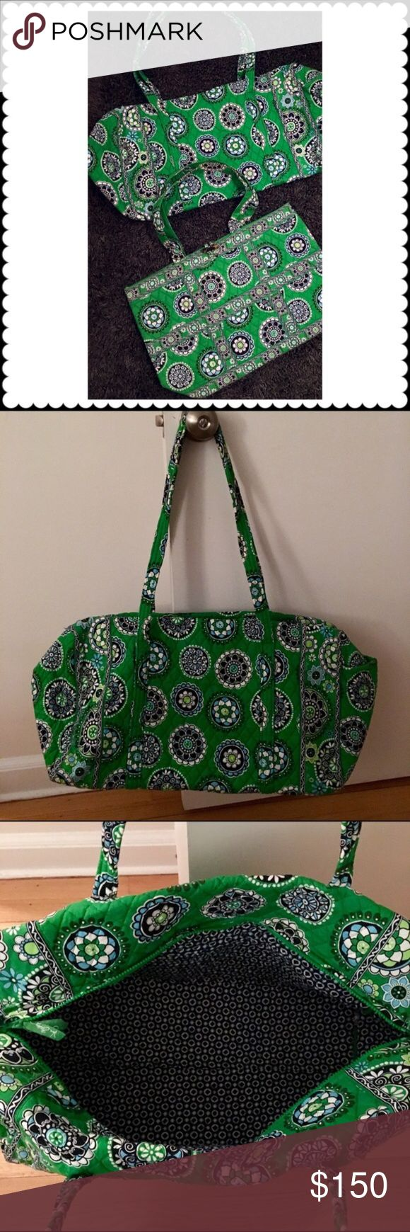Vera bradley travel set duffle and matching tote from vera bradley perfect for travel