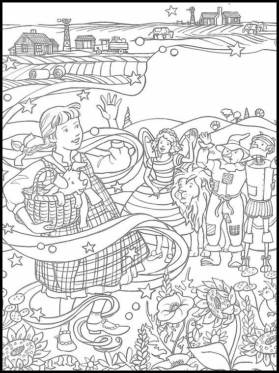 The Wizard Of Oz Drawing 16 Cool Coloring Pages Coloring Book Pages Online Coloring Pages