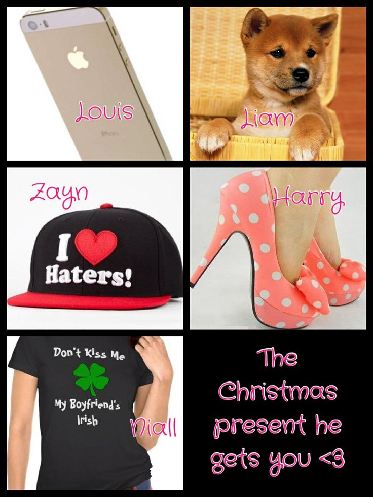 "One direction preference (my edit) please give credit :) ""The Christmas present he gets you <3"""