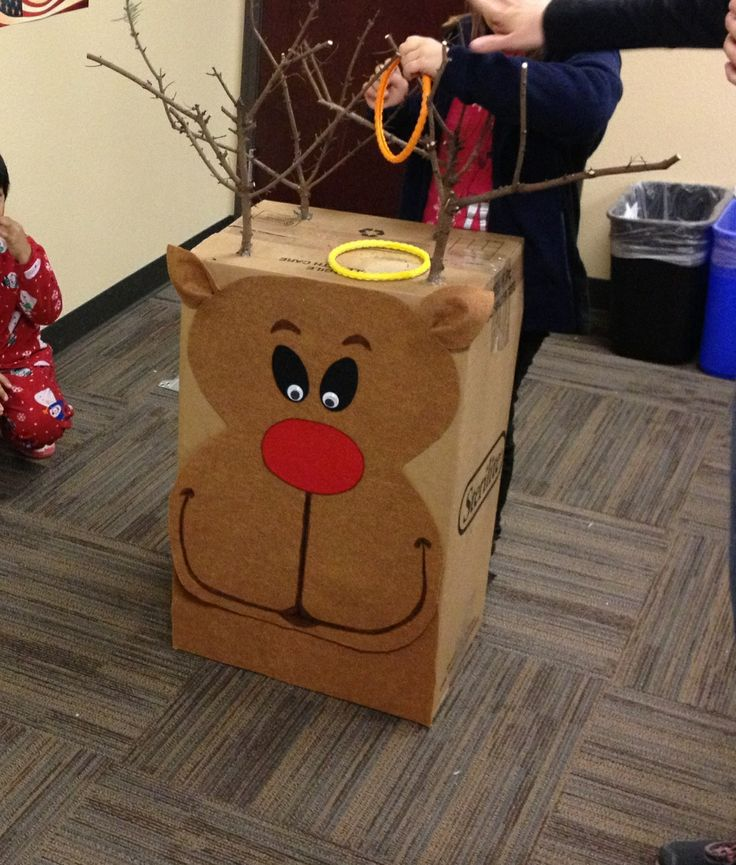 Reindeer Ring Toss (compliments of awesome party mom)!