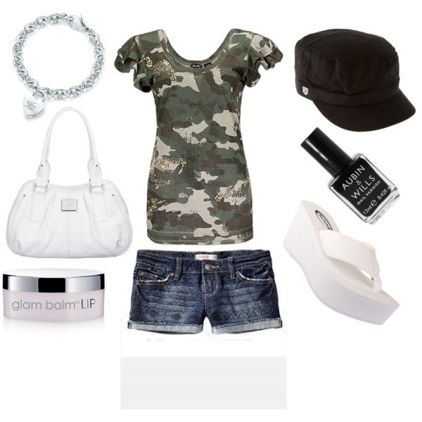 """fun camo outfit"" by courtneykern on Polyvore"