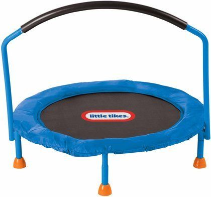 Little Tikes 3' Trampoline. Little Tikes knows it?s important for kids to stay active! This Little Tikes 3-foot trampoline is the perfect size to provide hours of bouncing fun!Plastic and metal combination