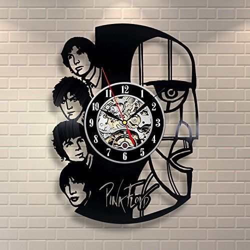 pink floyd art vinyl record clock wall decor home design this is an - Feldstein Kaminsimse