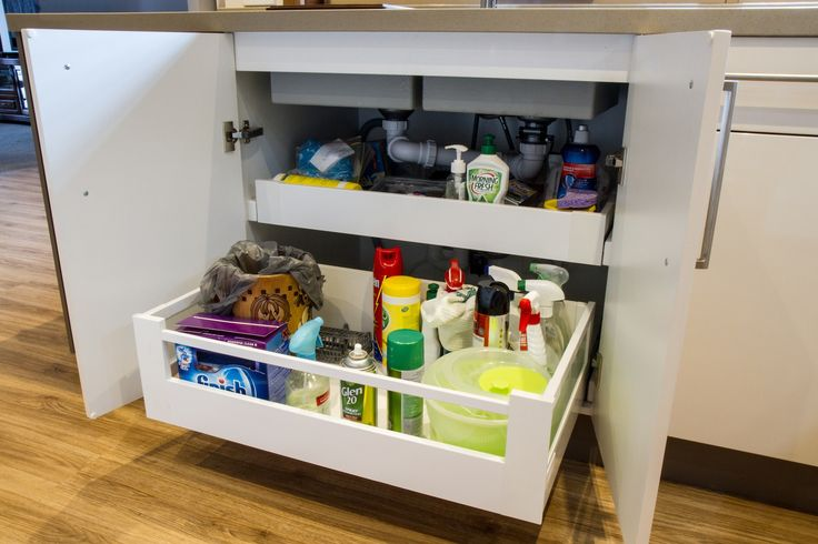 Sink drawers. Use all the space. www.thekitchendesigncentre.com.au