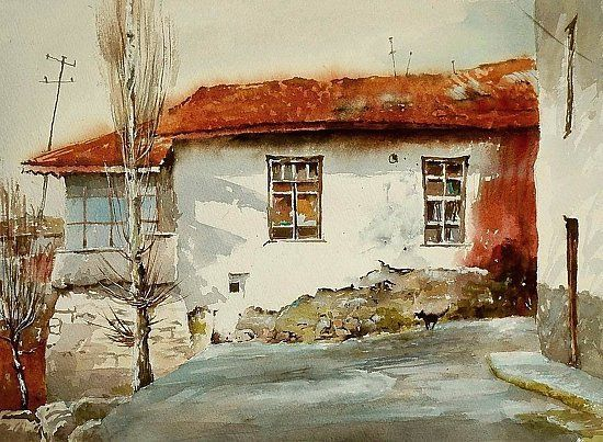 From beyond the long years by Mineke Reinders Watercolor 11 inches x 15 inches