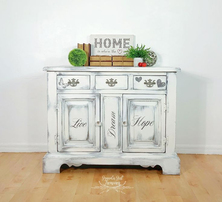Custom vintage country white side board white buffet